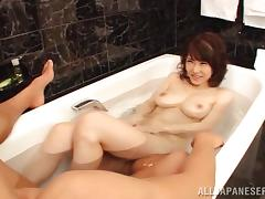 Akane Mizuki enjoys multiposition sex after making out with her man