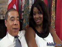 Curvy ebony gets banged by Obama