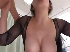 Two horny blokes ravage a voluptuous Asian babe