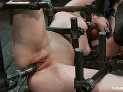 Hot Torying Action in Kinky BDSM Bondage Video with Pretty Bruentte