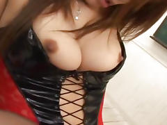 Japanese babe Ai Kurosawa fucked in her lingerie Uncensored