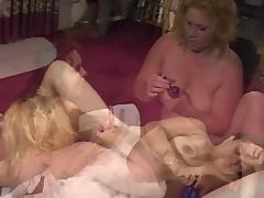 Heavy hot girls play wet pussy with toy