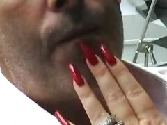 Long nails feeding porn video