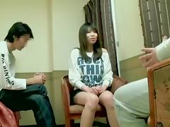 Skinny Asian hottie dicked silly Japanese hardcore style