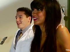 Martin Lorenzo and Yasmin Lee fuck each other's butts in a hospital ward