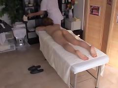 Bosoms massage and wild fuck with horny japanese massagist
