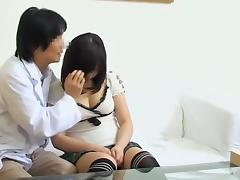 Sex video with japanese tunnel of love drilled at the clinic