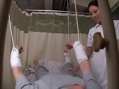 Medical voyeur video with asian nurse fucked by my manhood