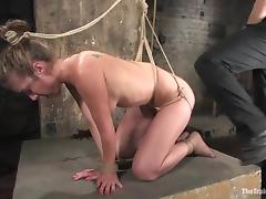 Jade Marxxx gets her mouth and pussy drilled in BDSM scene