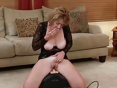 Sybian, Machine, Masturbation, Mature, Old, Riding