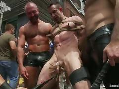Jason Miller gets his ass and mouth fucked hard in the street