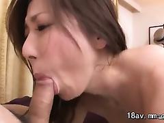 Brunette, Asian, Blowjob, Brunette