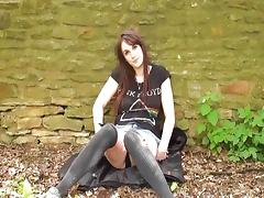 Daring public flasher and outdoor amateur