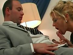 Horny blonde mature gets her pussy and ass fucked