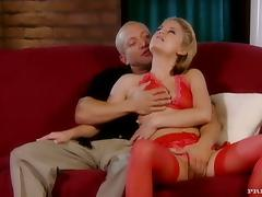 Bra, Blonde, Bra, Cumshot, Doggystyle, Double