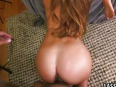 Booty babes in FFM threesome porn video