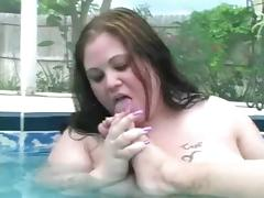 Horny BBW Lesbian GF's playing with her Ass, tits and feet