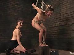 Strapon Fuck after Torture for Submissive Blonde Girl porn video
