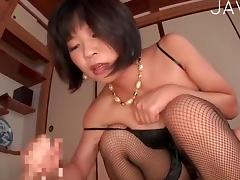 Hot girlie jerking this dick off porn video