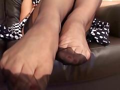 Masturbate in FF Stockings