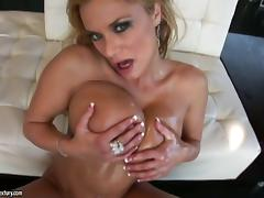 Shyla Stylez sucks a black sausage and gets fucked deep and hard