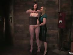 Lesbian BDSM Femdom Video with Torture and Toying Action