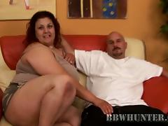 Hot Redhead BBW Getting Her Pussy Fucked Doggystyle And Cum On Face