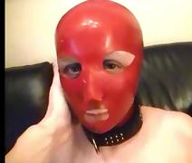 My wife latex mask