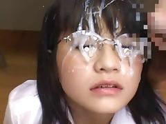 Japanese schoolgirl bukkake