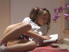 Schoolgirl, Ass, Beauty, Blonde, Pigtail, Small Tits