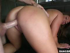 Megan Mathews rubs a cock and enjoys multiposition sex in a car