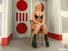 Georgia Peach Blonde Slut Dominated and Fucked in Bondage Video