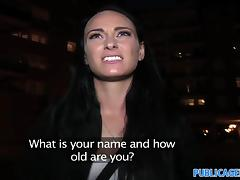 PublicAgent: Dark haired stunner fucks for free phone