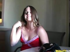 Perfect Point Of View While Fucking Her Shaved Pussy