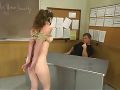 Bondage, BDSM, Bondage, College, Slave, Classroom