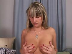 Sweetie is undressing and masturbating