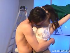 Hitomi Oohashi Having Her Asian Twat Fingered Before Fucked