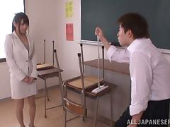 Hardcore Fun in the Classroom with Busty Japanese Ai Nikaidou
