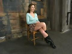 Insane hogtie and tight belting session with Isabella Soprano