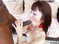All, Asian, Big Cock, Blowjob, Couple, Interracial