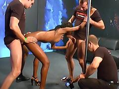 Ebony love to swallow white sperm