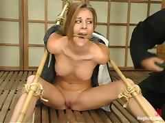 Pussy Toying During Bondage Session for Audrey Leigh
