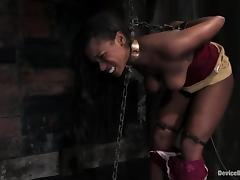 Hot BDSM video with sexy White and hot Black girls