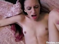 Skinny brunette with braces sucks and fucks w porn video