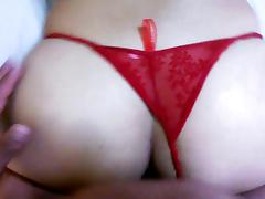 wife dogstyle in thong porn video