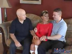 Summer gets satisfied with two cum filled cocks