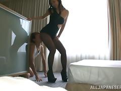 Sexy Bombshell Reiko Kobayaka Sucking And Fucking A Lucky Asian Guy