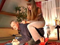 Old and Young, Banging, Blonde, Blowjob, Couple, Grandpa