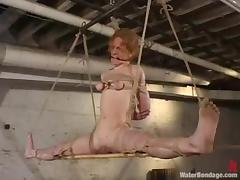 Redhead Sye Rena gets her pussy destroyed in BDSM video