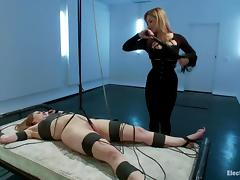 Submissive Sovereign Syre gets hit with electricity